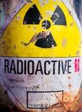 Stålbehållare av radioaktivt material Royaltyfri Bild