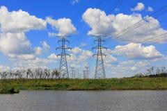 Stålelektricitetspylon Royaltyfria Foton