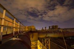 Stålfabrik i Chelyabinsk, Ryssland arkivbilder