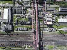 Stålfabrik metallurgical växt stålverk järnarbeten Heav Royaltyfria Bilder