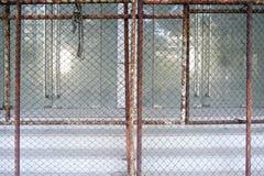 Stålgaller- och för dörrbakgrundsfoto materiel Royaltyfri Fotografi