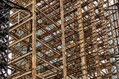 Stålkonstruktion av skyskrapamodellen royaltyfri foto