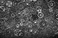 Stålkugghjul som tillsammans stramt lägger Fotografering för Bildbyråer