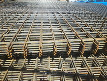 Stålmats för konstruktionsplats arkivbild