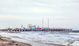 Stålpir, Atlantics City första nöjesfält Royaltyfria Bilder