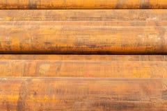 Stålrör rostar tung bransch arkivbild
