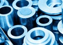 Stålsätta cylindrar, pistonger och hjälpmedel i seminarium Branschtema Arkivfoto