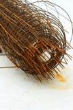 Stålsätta delar i konstruktionsplatsen - konstruktion Arkivfoto