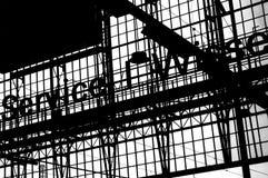 Stålsätta material till byggnadsställning arkivfoto