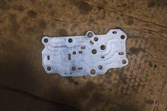 Stålsätta packningsinre av den linjära förskjutningssolenoiden för överföringen Tra Arkivfoton