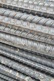 Stålsätta stången texturerar och bakgrund Arkivbild