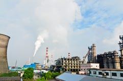 Stålsätta växtförorening Royaltyfria Bilder