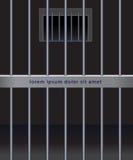 Stålstänger av arresten Vektor Illustrationer