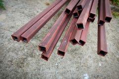 Stålstångstång för byggnadskonstruktion Royaltyfri Foto