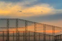 Stålstruktur för skymningen Royaltyfri Foto