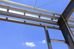 Stålstrukturen Fotografering för Bildbyråer