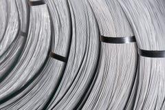 Ståltrådstång - stålspolar arkivbild