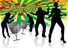 Stålvals Calypso Street Party stock illustrationer
