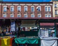 Stånd på Plac Nowy i Kazimierzen royaltyfria bilder