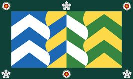 ståndsmässig flagga för cumbria royaltyfri foto