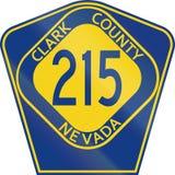 Ståndsmässig ruttsköld - Clark County - Nevada vektor illustrationer