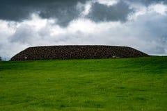 STÅNDSMÄSSIGA SLIGO, IRLAND - AUGUSTI 25, 2017: Carrowmore megalitisk kyrkogård i Sligo, Irland Royaltyfria Bilder