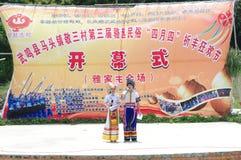 ståndsmässigt guangxilandskap t som för 3rd porslin 2012 wuming Royaltyfria Foton