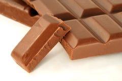 stång bruten choklad Fotografering för Bildbyråer