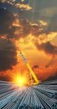 stång deformerat skymningskystål Royaltyfri Fotografi