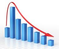Stång för affärsgraf vektor illustrationer