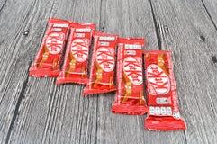 Stång för choklad för Nestle satskat Arkivfoto