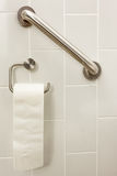 Stång för toalettpapper Fotografering för Bildbyråer