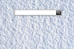 Stång för vintersemestersökande arkivfoto