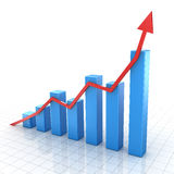Stång graph Stock Illustrationer