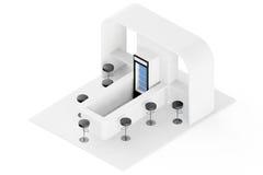 Stång kafé, kafeteria, snabbmatinrebegrepp framförande 3d royaltyfri illustrationer