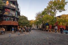 Stång och restauranger på Palermo Soho den bohemiska grannskapen - Buenos Aires, Argentina royaltyfri fotografi