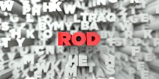STÅNG - Röd text på typografibakgrund - 3D framförde fri materielbild för royalty royaltyfri illustrationer