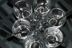 Stångexponeringsglas som hänger på kuggen royaltyfri bild