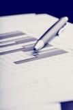 Stånggraf i ett begrepp för affärsstrategi Arkivfoton