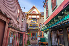 Stånghamn i Maine Arkivbild
