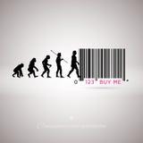 Stångkod för mänsklig evolution royaltyfri illustrationer