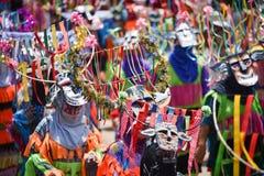 Ståta av dans för phi-Khon-Nam för regnceremonifestival Arkivbilder