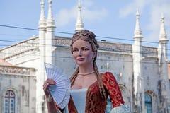 Ståta av dräkter och traditionella maskeringar av Iberia Royaltyfria Foton