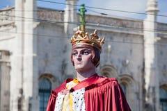 Ståta av dräkter och traditionella maskeringar av Iberia Royaltyfri Fotografi