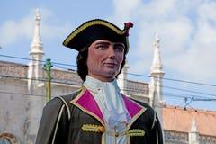 Ståta av dräkter och traditionella maskeringar av Iberia Royaltyfri Bild