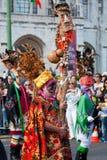 Ståta av dräkter och traditionella maskeringar av Iberia Arkivfoton