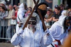 Ståta av dräkter och traditionella maskeringar av Iberia Fotografering för Bildbyråer