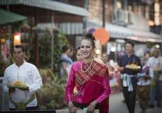 Ståta av kvinnaklänningen Thailand Arkivfoto