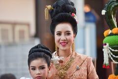 Ståta av kvinnaklänningen Thailand Royaltyfri Bild