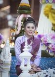 Ståta av kvinnaklänningen Thailand Fotografering för Bildbyråer